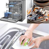 Преимущества использования посудомоечной машины.